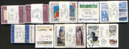 2001-2004 9 klf bélyeg 25-80-as kötegekben, összesen 395 db bélyeg (46.990)