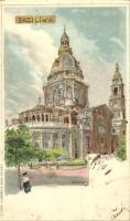 1899 Budapest V. Bazilika, litho s: Rosenberger (EK)