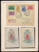 1939 Ajánlott levél Protestáns sor bérmentesítéssel + Bethlen blokk pár alkalmi bélyegzéssel