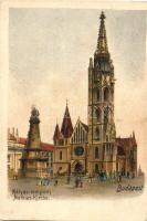 Budapest, Mátyás templom, litho (EK)