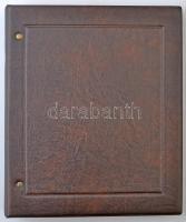 Numisbriefe műbőr album, benne 28 oldallal, kétféle méretű bankjegyek vagy borítékok tárolására, újszerű állapotban