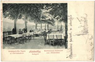Budapest II. Hűvösvölgy, Holtzspach-féle vigadó az Orvvadászhoz, kiadja Ifj. Hotzspach Nándor (EK)