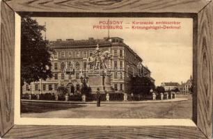 Pozsony, Pressburg, Bratislava; Koronázási emlékszobor / Coronation square, monument (EK)