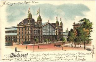 Budapest VI. Nyugati pályaudvar, litho