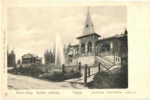 Felsőhági, Visne Hagy; Koliba szálloda, étterem, Feitzinger Ede kiadása / hotel, restaurant (EK)