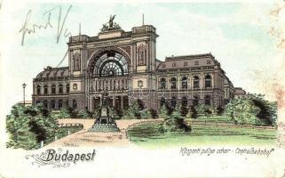 Budapest VII. Központi (Keleti) pályaudvar litho (fl)