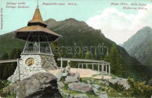 Tátra, Tarpataki völgy, Szilágyi Dezső emléktorony, Franz Pietschmann Kunstverlag No. 2136. / valley, memorial tower