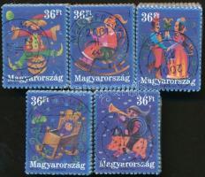 2001 Üdvözlettel (I) blokkból kitépett sor bündlikben (blokk: 50.000)