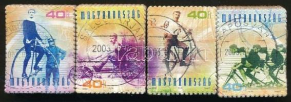 2002 A kerékpár története blokkból kitépett sor bündlikben (blokk: 50.000)