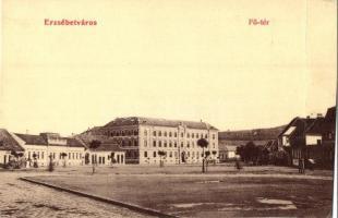 Temesvár, Timisoara; Erzsébetváros, Fő tér, Scholtes A. kiadása / main square (fa)