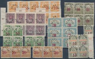 Megszállási bélyegek összeállítás, benne Baranya, Szeged és összefüggések, összesen 50 db bélyeg