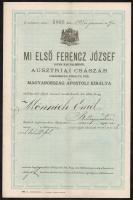 1895 Bp., Szárazelem feltalálásáért kiállított királyi szabadalomlevél