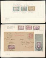 1918 Repülő posta sor (kármin és téglavörös felülnyomás) + 1920 Légiposta sor + futott levelezőlap (~24.000)