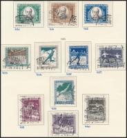 1917-1925 Jókai Mór sor + Sport sor + Margitsziget sor alkalmi bélyegzésekkel + Hadifogoly sor 3 db albumlapon (17.000)