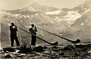 5 db RÉGI svájci folklór lap / 5 pre-1945 Swiss folklore postcards