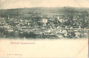 Szászváros, Orastie, Broos; látkép, Graef H. kiadása / general view (EK)