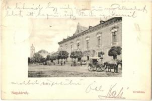 Nagykároly, Carei; városháza, Csókás Lászlóné kiadása / town hall (kis szakadás / small tear)