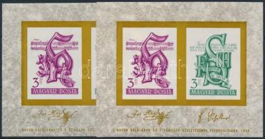 1959 2 db Haydn - Schiller blokk (10.000)