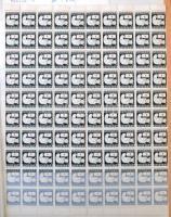 Teljes ívek, ívdarabok 1944-től 10 lapos nagyalakú berakóban (~31.000)