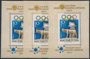 1960 3 db Római olimpia blokk (13.000)