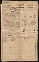 1888 Magyar Királyi Postaigazgatás által kiállított tudakozvány eltűnt küldeménnyel kapcsolatban, feladóvevénnyel