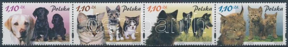 2002 Állatok és kicsinyeik négyescsík Mi 3960-3963