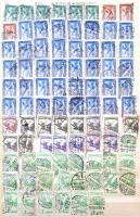 Magyar többpéldányos gyűjtemény 1933-1941 1.300 db bélyeg, közte Repülő, Nagy Madonna és jobb értékek 16 db A4-es berakólapon