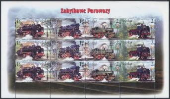 2002 Vasút, Gőzmozdonyok kisív Mi 3997-4000