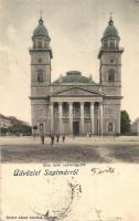 Szatmárnémeti, Satu Mare; Római katolikus székesegyház, Reizer János kiadása / cathedral (b)
