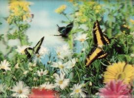 4 db MODERN állatos dimenziós lap / 4 modern animal dimensional postcards