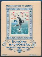 1963 10 db Műkorcsolya blokk (10.000)