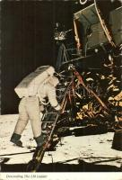 4 db MODERN amerikai űrhajós lap / 4 modern American astronauts postcards