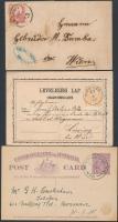 15 régi magyar és külföldi küldemény 1916-ig