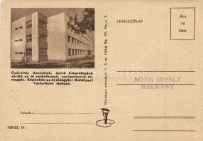 4 db MODERN levelezőlap köztük a Helsinki olimpia magyar-jugoszláv labdarúgó mérközés, diósgyőri kohóipari technikum / 4 modern postcards with Hungarian-Yugoslavian football match
