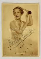 cca 1930 Honthy Hanna (1893-1978) színésznő ceruzás aláírása az ábrázoló Angelo fotón