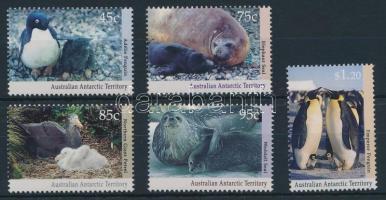 1992 Állatok az Antarktiszon sor Mi 90-94