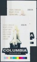 2003/10 Columbia cromalin emlékívpár (120.000)
