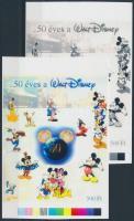 2005/25 Walt Disney cromalin emlékívpár (120.000)