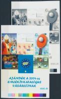 2004/43 Ajándék emlékív katalógus vásárlóinak cromalin emlékívpár (120.000)