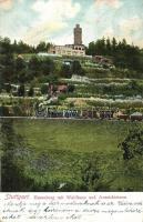 Stuttgart, Hasenberg mit Waldhaus und Aussichtsturm / locomotive