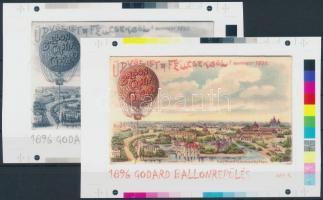 2004/37 Godard ballon cromalin emlékívpár (120.000)