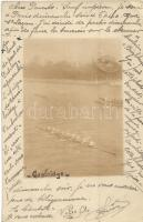 1905 Cambridge, rowing race, photo (EK)