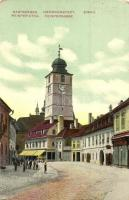 Nagyszeben, Hermannstadt, Sibiu; Reisper utca, templom / street, church (kopott sarkak / worn corners)