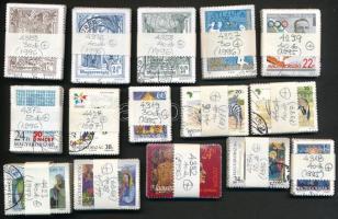 1995-1997 15 klf bélyeg 25-80-as kötegekben, összesen 625 db bélyeg (43.400)