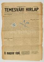 1913 Temesvár, Temesvári Hírlap 11. évfolyamának 102. száma 30fillér okmánybélyeggel