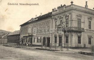 Boksánbánya, Németbogsán, Bocsa; hotel, takarékpénztár / hotel, savings bank (fa)
