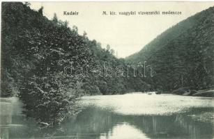 Kudzsir, Kudsir, Cugir; M. kir. vasgyári vízvezetéki medence, Gyöngyössy Gyula kiadása / Iron factorys pipeline basin