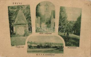 Ercsi, Török kút, Katolikus templom, MFTR kikötőhelye (fl)