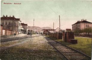 Banjaluka, Tekija Stadtteil; Bahnhof / railway station (b)