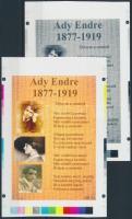 2009/06 Ady Endre cromalin emlékívpár (120.000)
